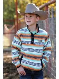 Boys Cinch Multi Color Fleece Pullover