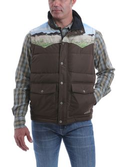 Mens Cinch Retro Quilted Vest