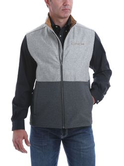Mens Cinch Bonded Gray Vest