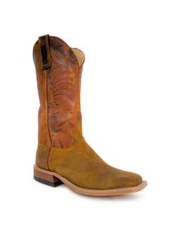 Mens Anderson Bean Wheat Buck Waxy Kudu Cowboy Boots
