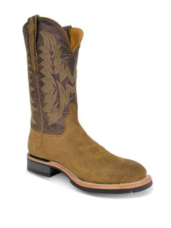 Mens Lucchese Olive Comanche Roughout Barn Boots