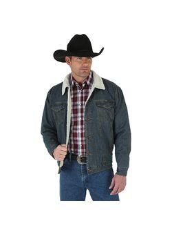 Mens Wrangler Sheep Lined Denim Jacket