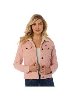 Ladies Wrangler Pink Sheep Lined Jacket