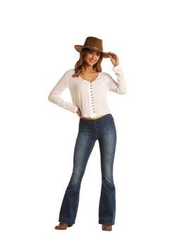 Ladies Panhandle High Rise Pull-on Jean