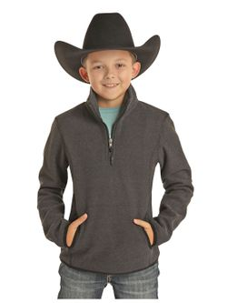 Boys Panhandle Chocolate Pullover