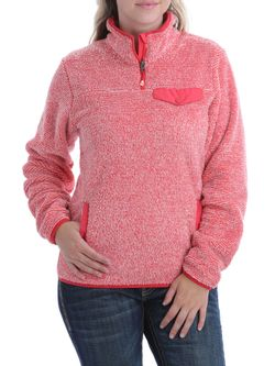 Ladies Cinch Coral Fleece Pullover