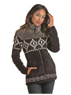 Ladies Panhandle Black Aztec Cull Jacket
