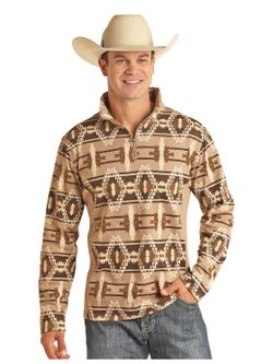 Mens Panhandle Taupe Aztec
