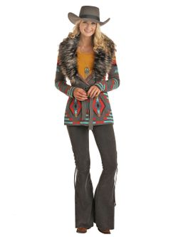 Ladies Panhandle Aztec Cardigan