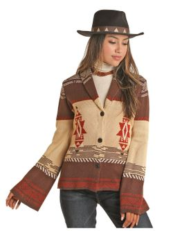 Ladies Panhandle Stagecoach Aztec Sweater