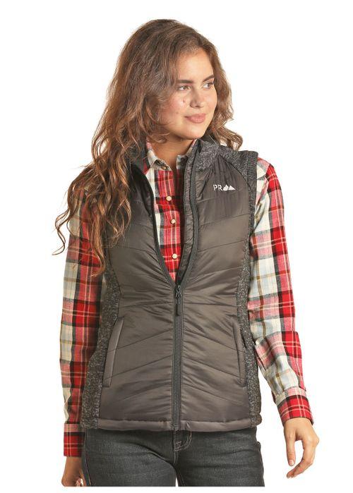 Ladies Panhandle Slim Charcoal Vest