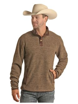 Mens Panhandle Tan Pullover