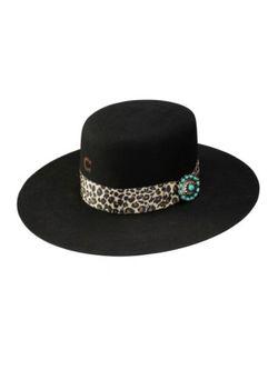 Ladies Charlie One Horse Wild Thing Black Wool Hat