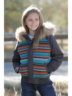 Girls Cruel Girl Flight Brown Jacket
