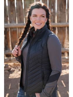 Ladies Cruel Girl Black Quilted Vest