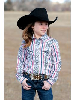 Girls Multi Raglan Long Sleeve Shirt