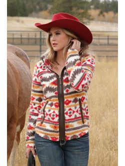Ladies Cinch Multi Fleece Jacket