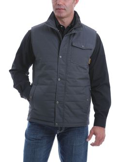 Mens Cinch Charcoal Quilted Vest