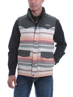 Mens Cinch Striped Blanket Vest