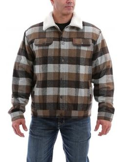 Cinch Conceal Carry Plaid Truck Jacket