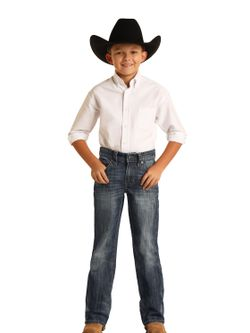 Kids Panhandle Slim Dark Wash Jeans