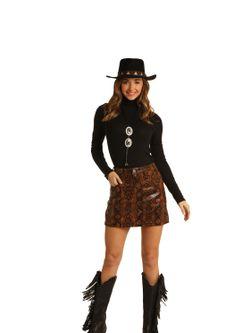 Ladies Panhandle Slim Snakeskin Skirt