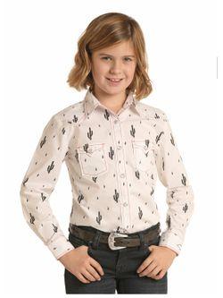 Kids Panhandle Slim Cactus Snap Long Sleeve