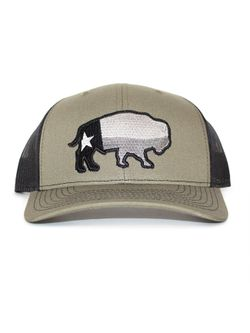 Mens Rep Of Texas Heather Grey with White