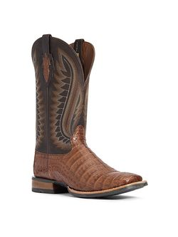 Mens Ariat Double Down Caiman Belly