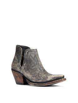 Ladies Ariat Distressed Black Dixon Boots