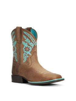 Kids Ariat Cattle Cate Distress Brown Boots
