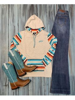 Turquoise and Cream