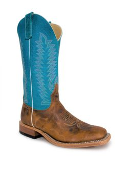 Mens Anderson Bean Brown Grizzly Bear Cowboy Boots