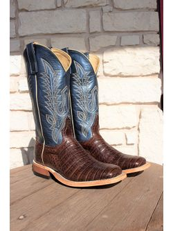 Mens Anderson Bean Chocolate Suave Caiman Belly