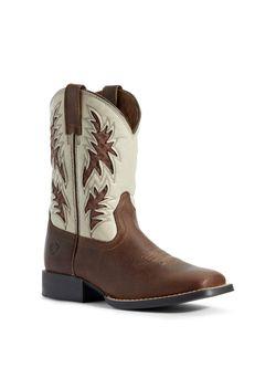 Kids Ariat Cowboy Venttek Cognac Candy Boots