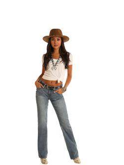 Ladies Panhandle Slim Mid Rise Bootcut