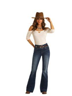 Ladies Panhandle Slim Vintage Highrise Trouser Jeans