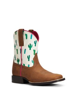 Kids Ariat Youth Dinero Cactus Print Boots