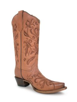 Ladies Corral Shedron Embroidery Snip Toe