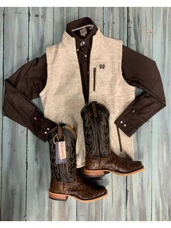 Cinch Brown and Cream Look