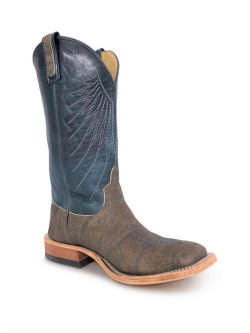 Anderson Bean Bone Washout Elephant Indigo Mens Cowboy Boots