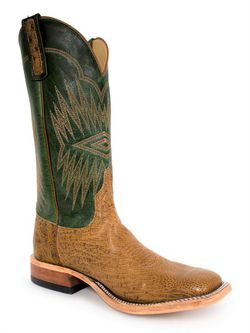 Mens Anderson Bean Emerald Top Smooth Ostrich Boots