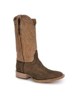 Black Jack Mens Tan Hippo Cowboy Boots