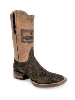 Mens Black Jack Gonzales Flag Hippo Boots