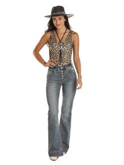 Ladies Panhandle Slim Leopard Body Suit