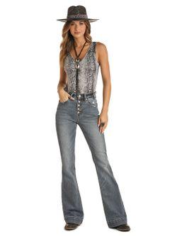 Ladies Panhandle Slim Snake Skin Body Suit