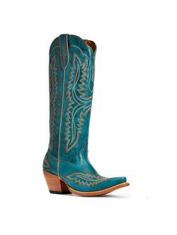 """Ladies Ariat Casanova Turquoise 16"""" Boots"""