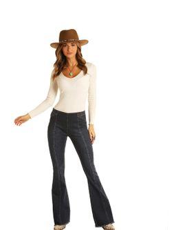 Ladies Panhandle Slim Denim Flare Jeans