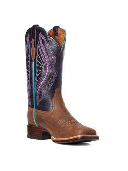 Ladies Ariat Primetime Tobacco Shadow Boots