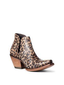 Ladies Ariat Dixon Distressed Leopard Boots